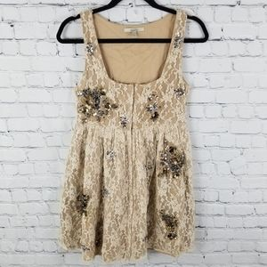 ZARA TRAFALUC | floral lace embellished dress